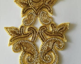 Gold embroidery applique