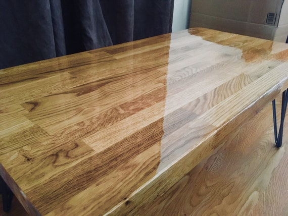 epoxid platte eichentisch eiche platte kaffee etsy. Black Bedroom Furniture Sets. Home Design Ideas