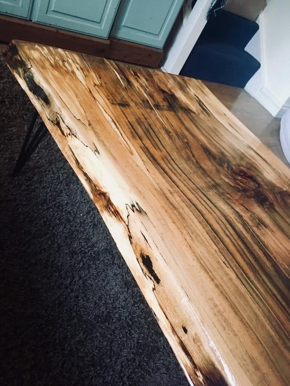 nouveau bois epoxy table live bord chauff h tre r sine. Black Bedroom Furniture Sets. Home Design Ideas
