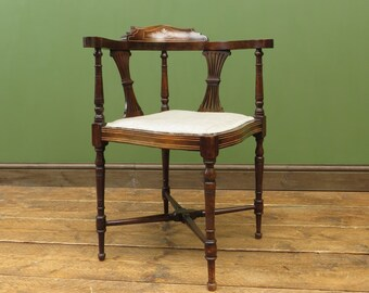 Edwardian Rosewood Corner Chair