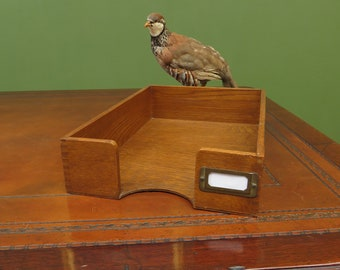 Vintage Wooden Stationery Tray