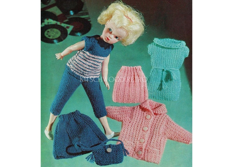 12 doll sindy doll 1960s sindy knitting pattern sindy doll clothing sindy outfit sindy clothes sindy doll knitting patterns