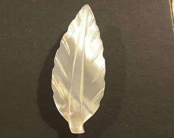 Vintage Mother of Pearl 1930's leaf.