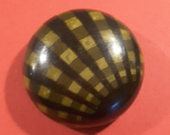 Large domed vintage 1930's celluloid button.