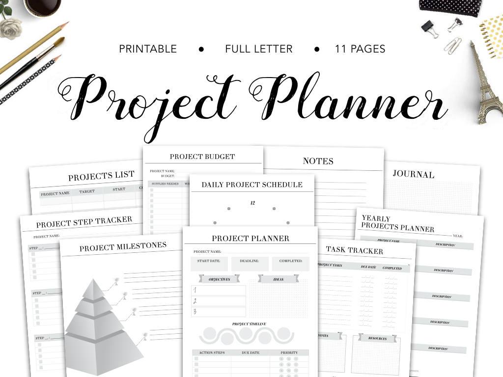 project planner project tracker project planner printable etsy