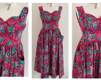93aaa28f64 Vintage (12 14) Laura Ashley Pink Pocket Dress ~ Size 12 14