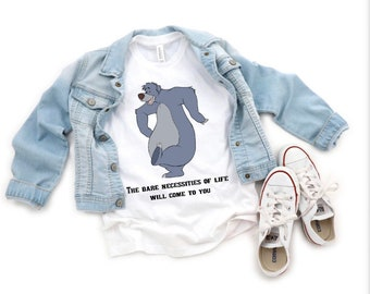 Inspired Baloo The Bear Jungle Book Bodysuit The Bare Necessities of Life will come to you Animal Kingdom Jungle Book Birthday