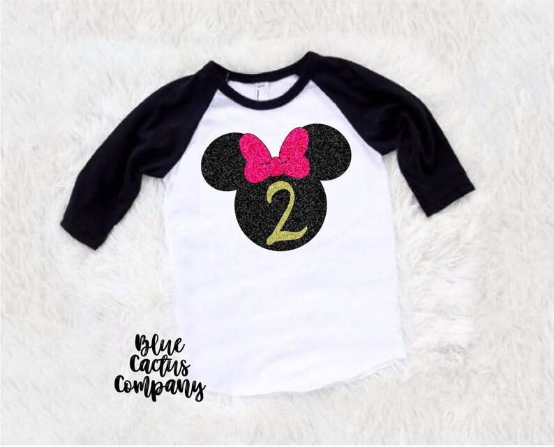 7eaca96cf76 Second Birthday minnie mouse shirt birthday shirt girl