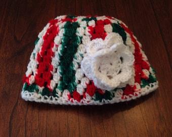 Candycane Striped Winter Hat