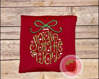 Jingle all the way embroidered shirt