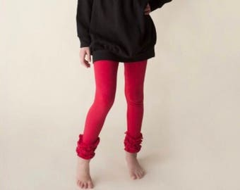 Red ruffle pants
