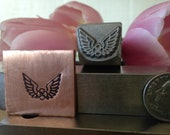 Wings with Celtic Knot Metal Hand Stamp for Blacksmiths, Jewelry and Metal Artists