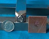 Small Yoga Hand Metal Hand Stamp for Blacksmiths and Metal Artists