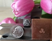 Triskele (S) Metal Hand Stamp for Blackmsith, Jewelry and Metal Artists