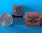 Tribal Skull and Crossbones Metal Hand Stamp for Blacksmiths, Jewelry and Metal Artists