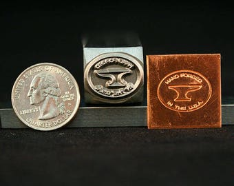 Hand Forged in the U.S.A. Metal Hand Stamp for Blacksmith, Leather, Jewelry, Artists