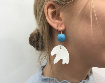 Splodge // Abstract Polymer Clay Earrings