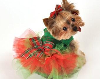santas helper christmas tutu dog dress for small to large dogs