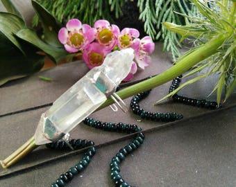 Aura Crystal Ear Cuff, Quartz Crystal Handmade jewelery, Unique Crystal Ear Wrap