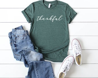 8fe4acc4d Thankful Shirt | Cute Fall Shirts | Fall Shirt | Thanksgiving Shirt | Bella  Shirt | Bella Triblend | Soft Tshirt | Women's Graphic Tee