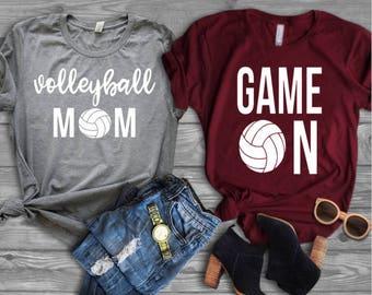 f8d9589f4 Volleyball Mom//Game On Shirt//Shirt for Mom//Mom Life//Sports Mom Shirt