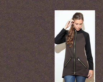 Brown ponte knit by the yard