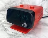 70s Orange Master Anchor, Digital Clock, Alarm Clock, Alarm clock, vintage, Source retro