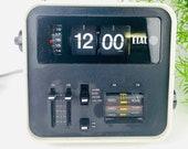 Vintage flip clock ELAC RD 100, 70s, space age white