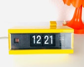 Vintage Copal Folding Numbers Alarm Clock,Yellow from the 70s, Model 227