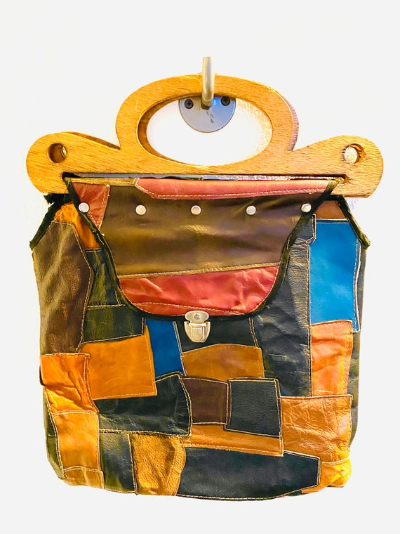 Vintage patchwork bag from the 80s