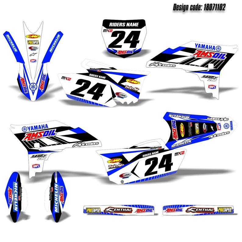 2013 Full Graphic kit Neon Style Stickers Yamaha YZF 250-2010 ...