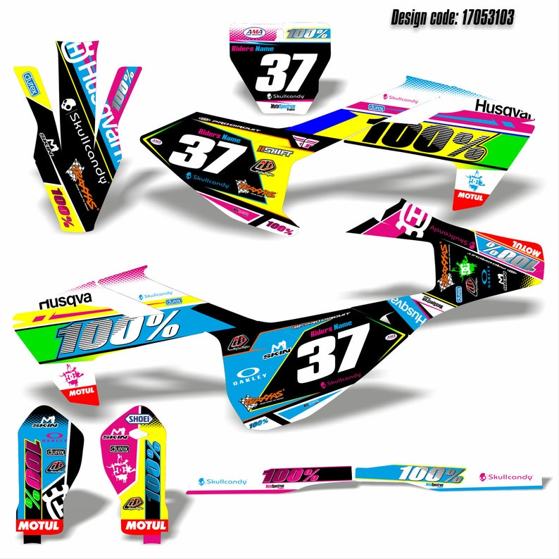 Graphics kit stickers decals for Husqvarna TC125 FC250-350-450 FS450 2016  2017 mx motocross