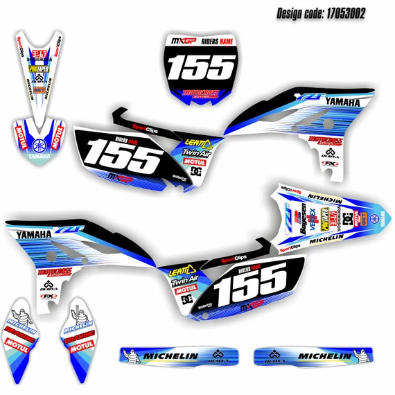 Graphics Kit Stickers Decals For Yamaha Yzf 250 2010 2011 2012 2013 Mx Motocross