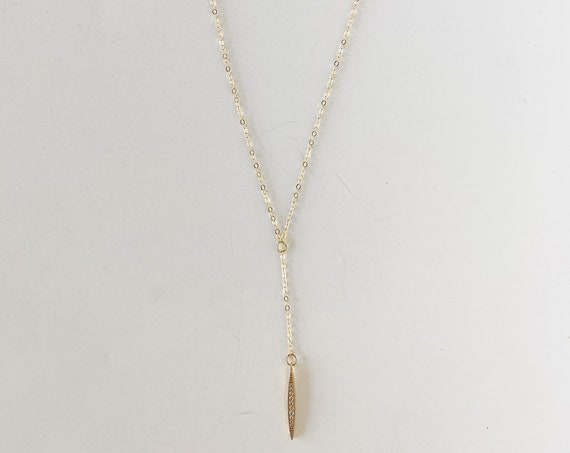 Studded Lariat Necklace