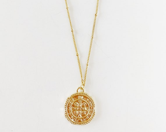 Golden Medallion Necklace in small