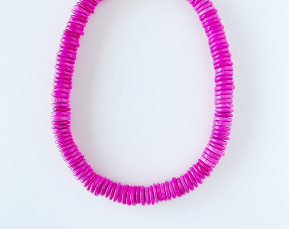Oversized Pink Disc Necklace