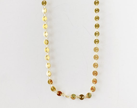 Golden Circles Layering Necklace