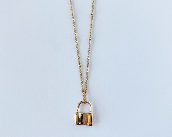 Single Locket Charm Necklace
