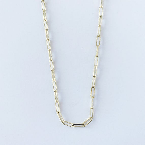 Small Paper Clip Chain Layering Necklace