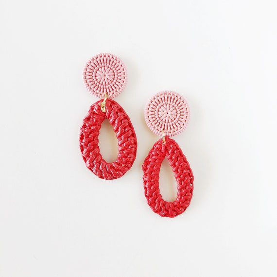The Daphne Earrings in Red