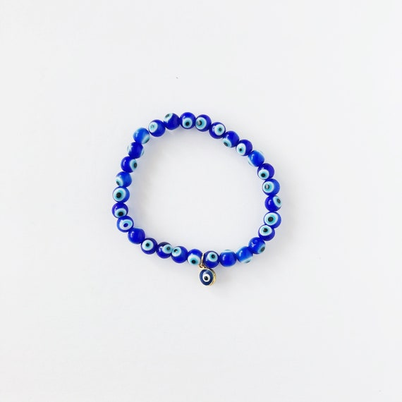 The Evil Eye Bracelet in Primary Blue