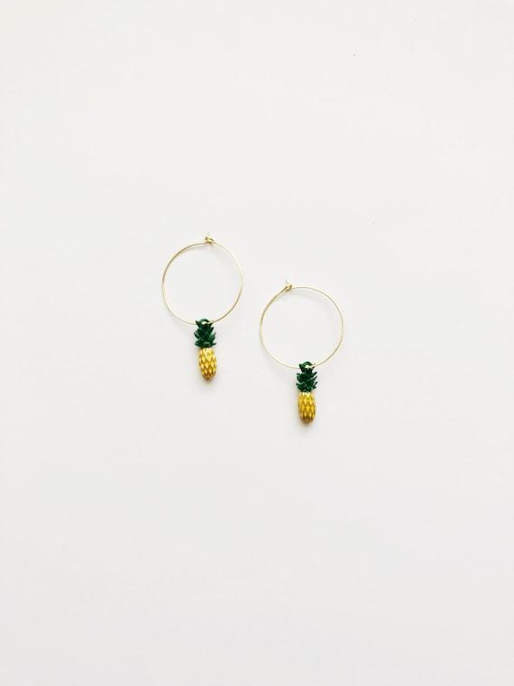 Pineapple Crush Hoops *summer exclusive*