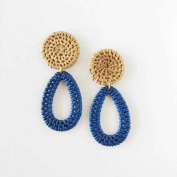 The Daphne Earrings in Blue