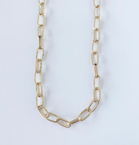 Square Paperclip Chain Necklace