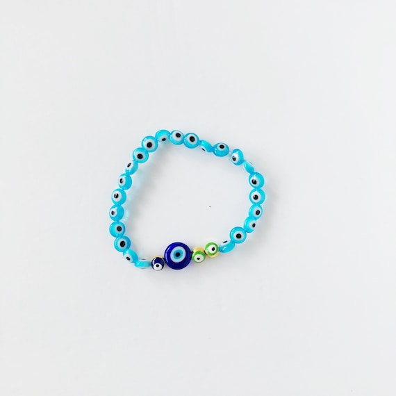 The Evil Eye Bracelet in Azure