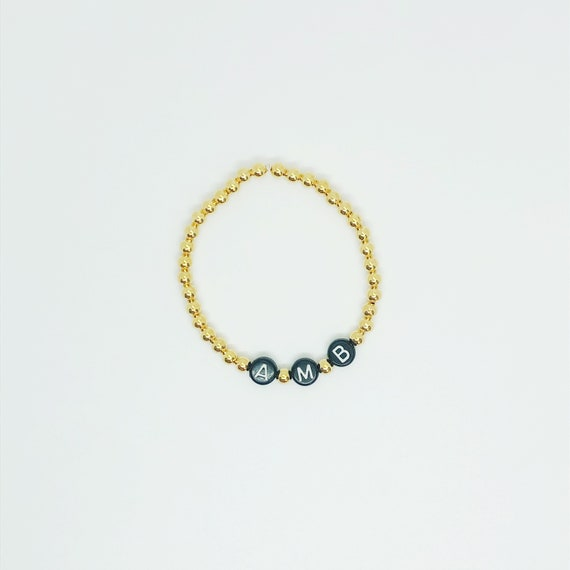 The Name Bracelet in Midnight