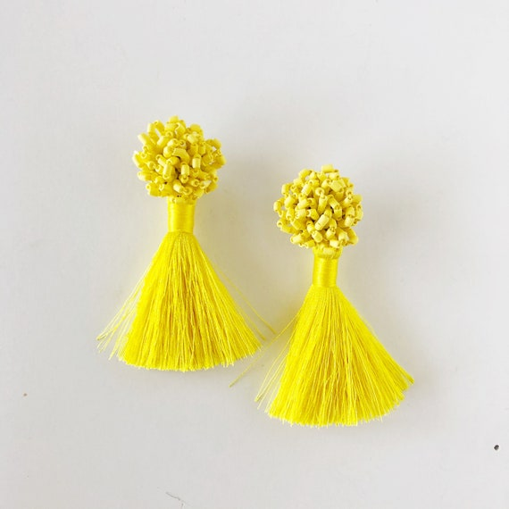 The Katy Earrings in Yellow