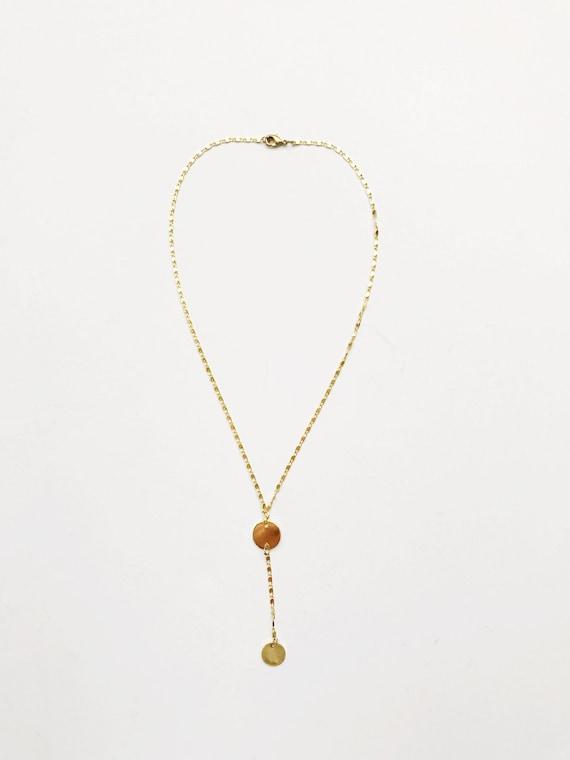 Golden Choker Drop Necklace