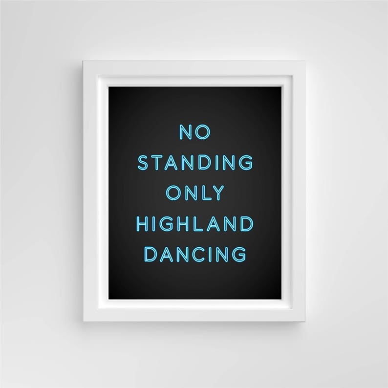 No Standing Only Highland Dancing™ // 4x6 Print // Pink Blue image 0