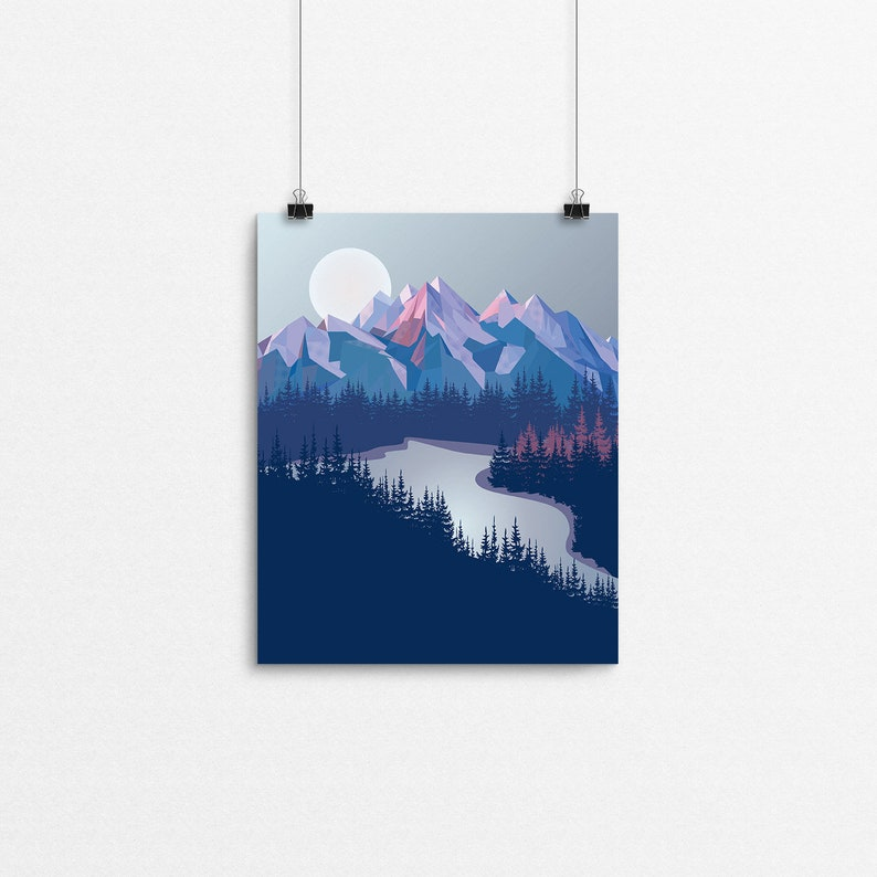 Tartan Peaks // 8x10 Print image 0